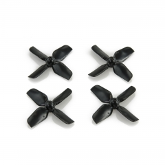 HQ Micro Whoop Prop 1.2X1.2X4 (31MM) Black (2CW+2CCW)-ABS-0.8MM Shaft