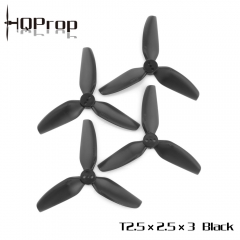 HQ Durable Prop T2.5X2.5X3 Black (2CW+2CCW)-Poly Carbonate