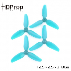 HQ Durable Prop T2.5X2.5X3 Light Blue (2CW+2CCW)-Poly Carbonate
