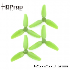 HQ Durable Prop T2.5X2.5X3 Light Green (2CW+2CCW)-Poly Carbonate