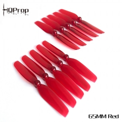 HQ Micro Prop 65MM  Red  (5CW+5CCW)-Poly Carbonate-1.5MM Shaft