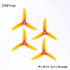 HQ Durable Prop  4X4.3X3V1S  Light Orange (2CW+2CCW)-Poly Carbonate