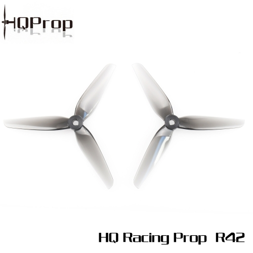HQ Racing Prop R42  Light Grey (2CW+2CCW)-Poly Carbonate