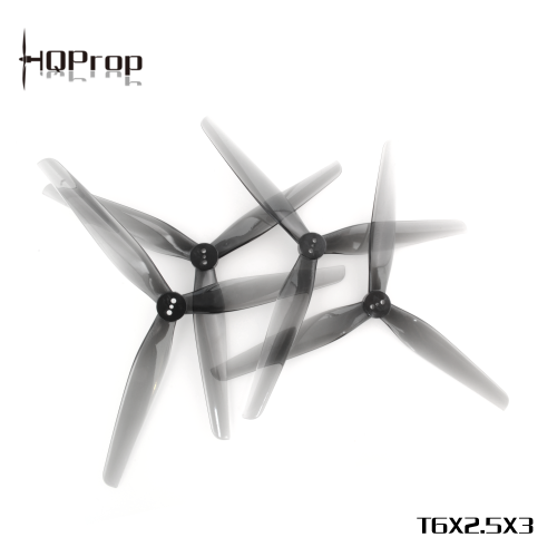 HQProp T6X2.5X3 Light Grey (2CW+2CCW)-Poly Carbonate